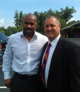 Steve Harvey with Jeff Kernstine