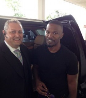 Jamie Foxx with Jeff Kernstine