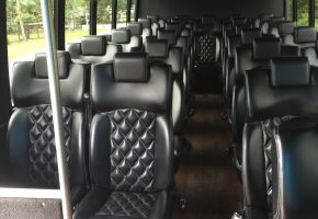27 passenger bus interior